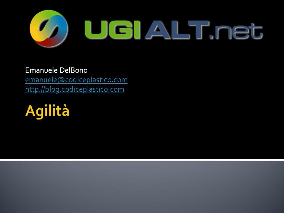 Emanuele DelBono emanuele@codiceplastico.com http://blog.codiceplastico.com