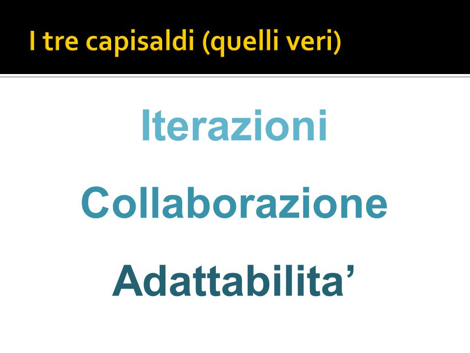 Iterazioni Collaborazione Adattabilita'