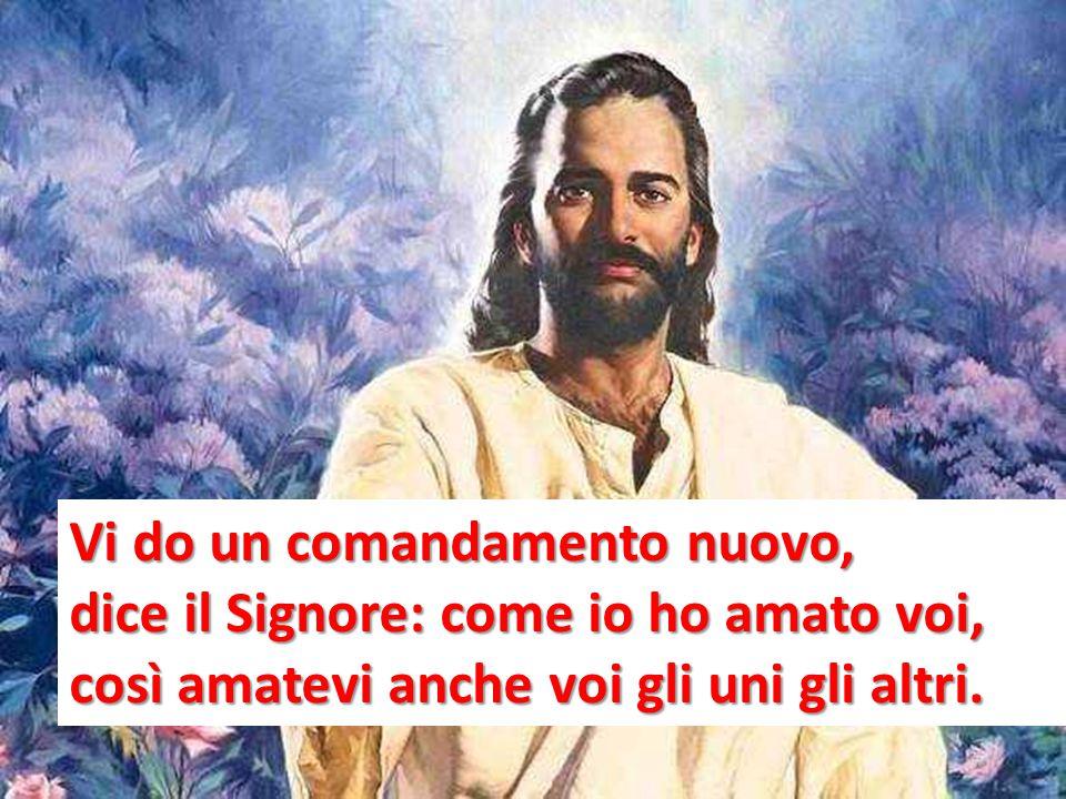 Vi do un comandamento nuovo, dice il Signore: come io ho amato voi, così amatevi anche voi gli uni gli altri.