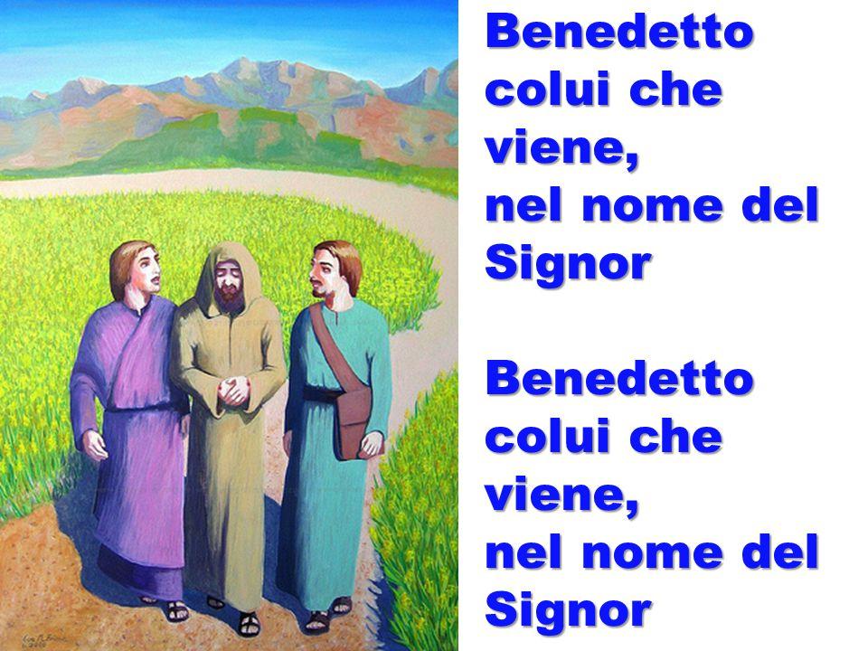 Benedetto colui che viene, nel nome del Signor Benedetto colui che viene, nel nome del Signor