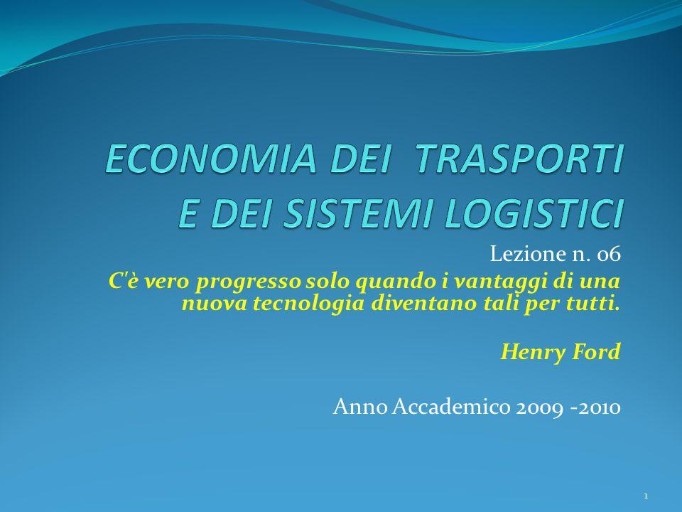 Lezione n. 06 C'è vero progresso solo quando i vantaggi di una nuova tecnologia diventano tali per tutti. Henry Ford Anno Accademico 2009 -2010 1