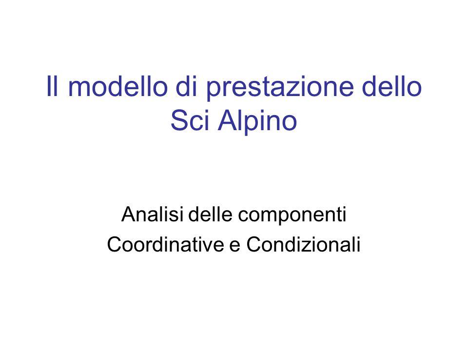 Il modello di prestazione dello Sci Alpino Analisi delle componenti Coordinative e Condizionali