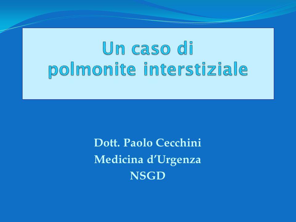 Dott. Paolo Cecchini Medicina d'Urgenza NSGD