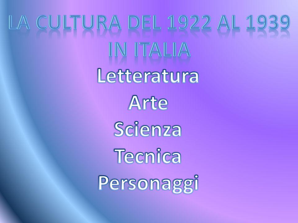 La letteratura italiana nel Novecento è influenzata da vari fattori(sociali,politici,culturali,ecc).