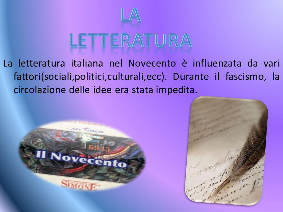 Grazie alle riviste fiorentine, nell'epoca del fascismo c'è stato un interessamento per la letteratura.