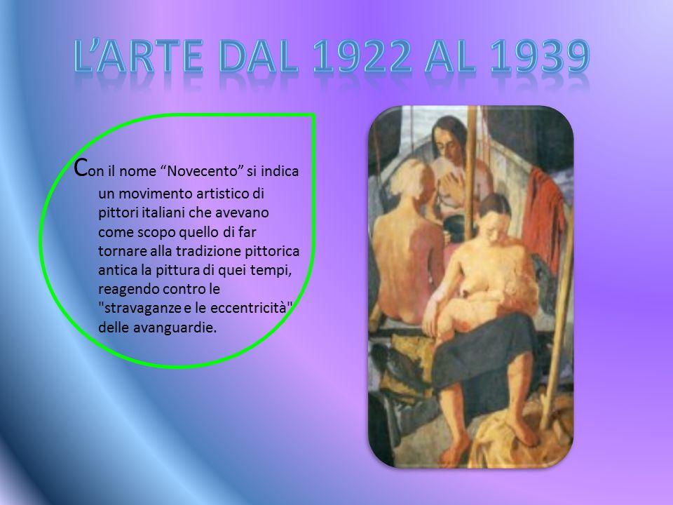 G li artisti del gruppo erano sette: Mario Sironi, Anselmo Bucci, Achille Funi, Ubaldo Oppi, Leonardo Dudreville, Emilio Malerba e Pieto Marussi, che si presentarono nel 1923 nella galleria Pesaro a Milano, inaugurata da Mussolini.