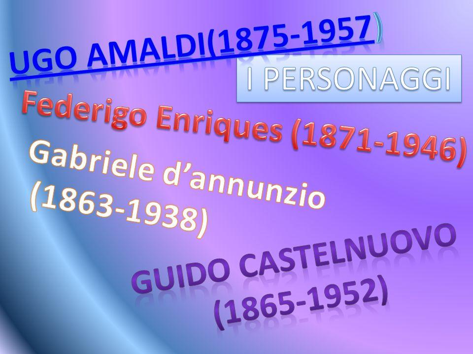 Gabriele d'Annunzio è nato nel 1838 a Pescara, era un politico, militare, scrittore e poeta.