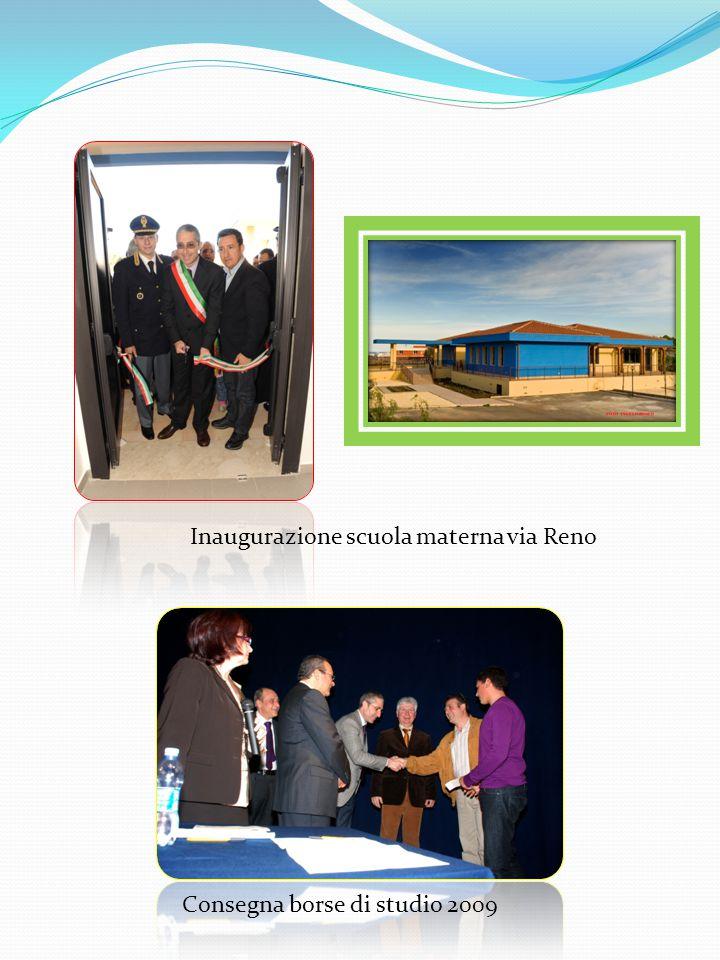 Consegna borse di studio 2009 Inaugurazione scuola materna via Reno