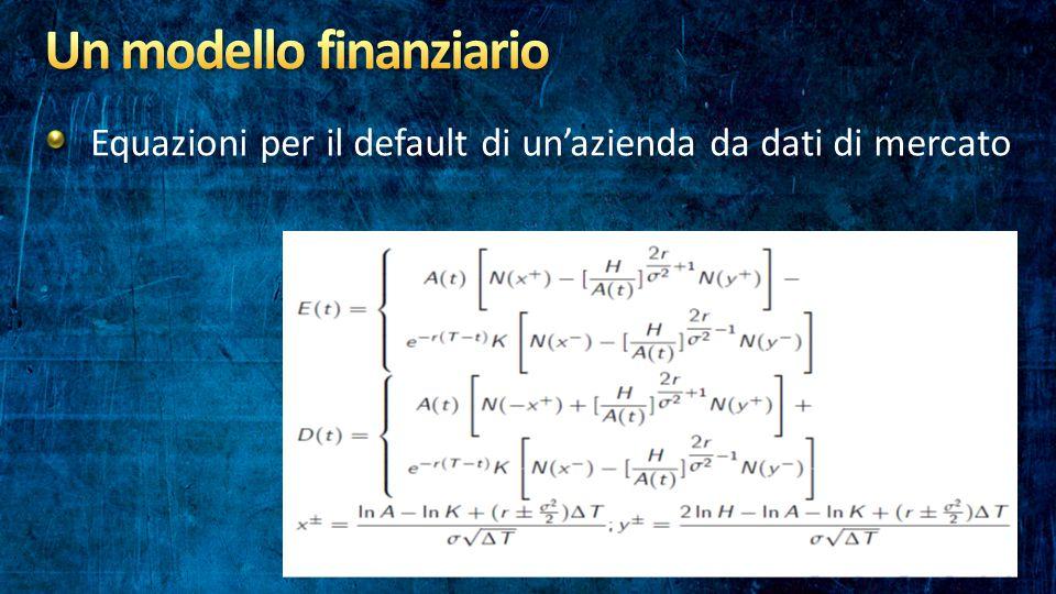 Equazioni per il default di un'azienda da dati di mercato