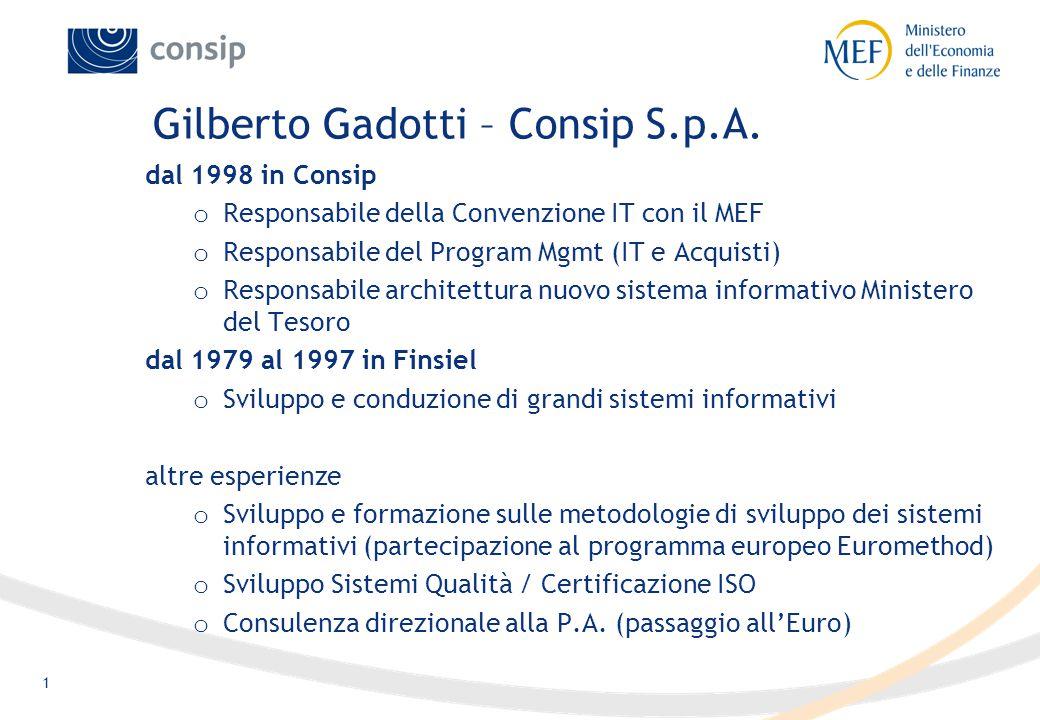 1 Gilberto Gadotti – Consip S.p.A.