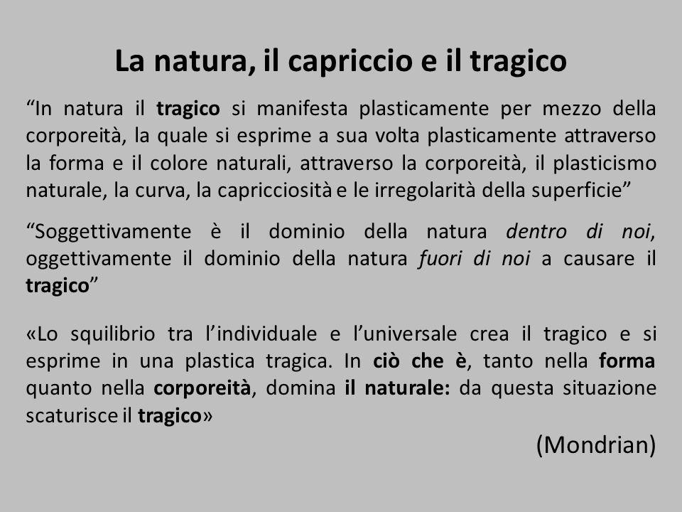 """La natura, il capriccio e il tragico """"In natura il tragico si manifesta plasticamente per mezzo della corporeità, la quale si esprime a sua volta plas"""