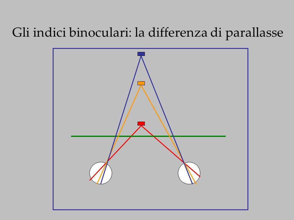 Gli indici binoculari: la differenza di parallasse