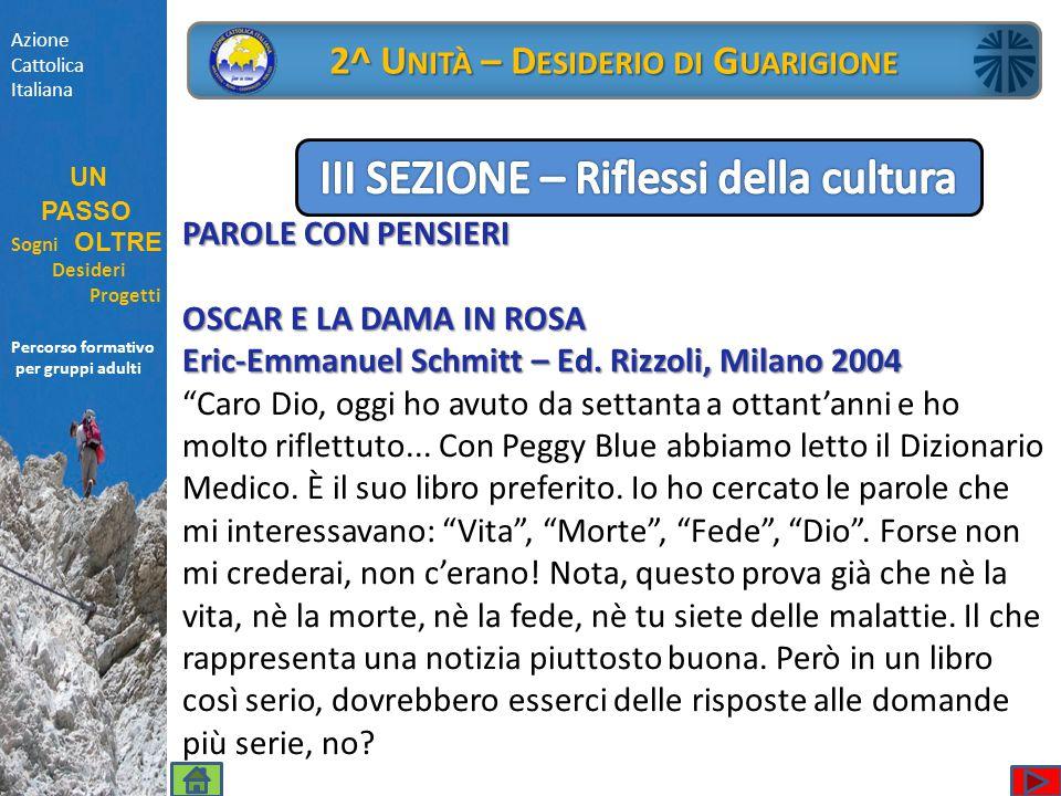 """PAROLE CON PENSIERI OSCAR E LA DAMA IN ROSA Eric-Emmanuel Schmitt – Ed. Rizzoli, Milano 2004 """"Caro Dio, oggi ho avuto da settanta a ottant'anni e ho m"""