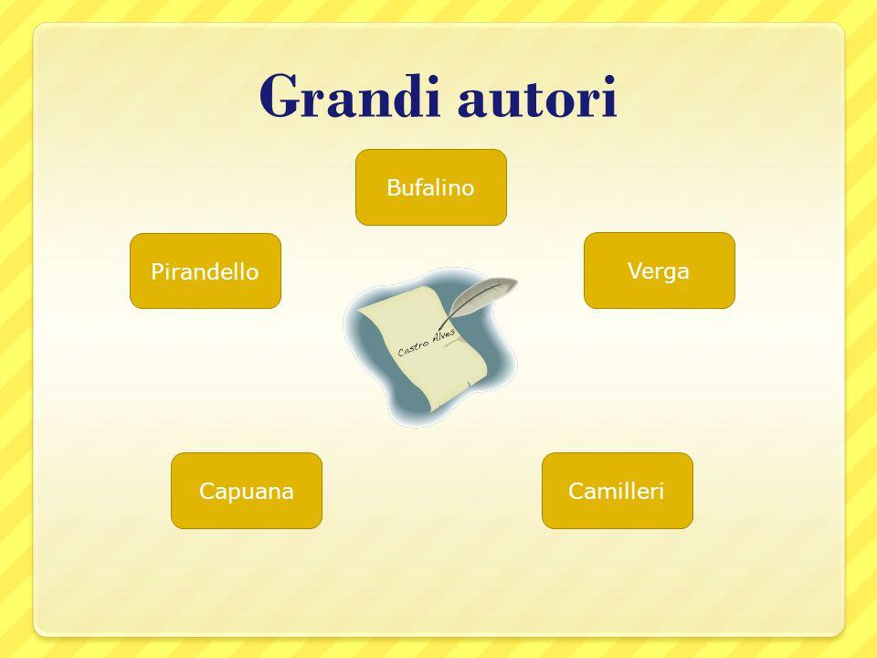 Grandi autori Pirandello Verga CapuanaCamilleri Bufalino