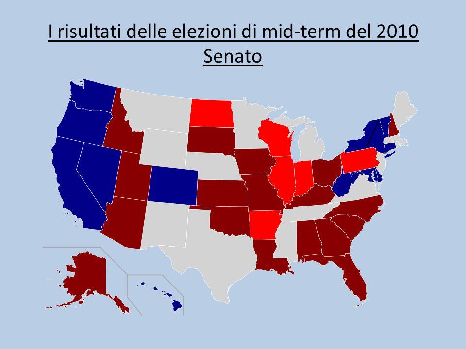 I risultati delle elezioni di mid-term del 2010 Senato