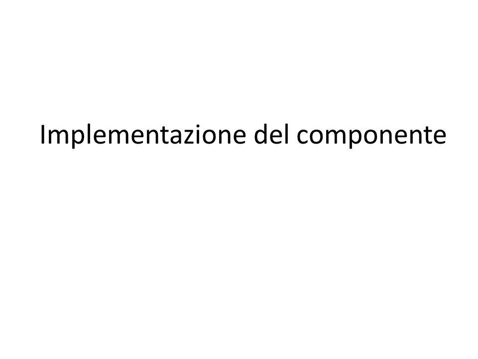 Implementazione del componente