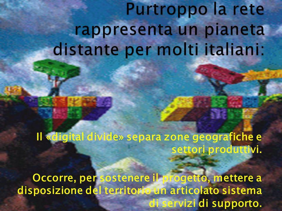 Il «digital divide» separa zone geografiche e settori produttivi.