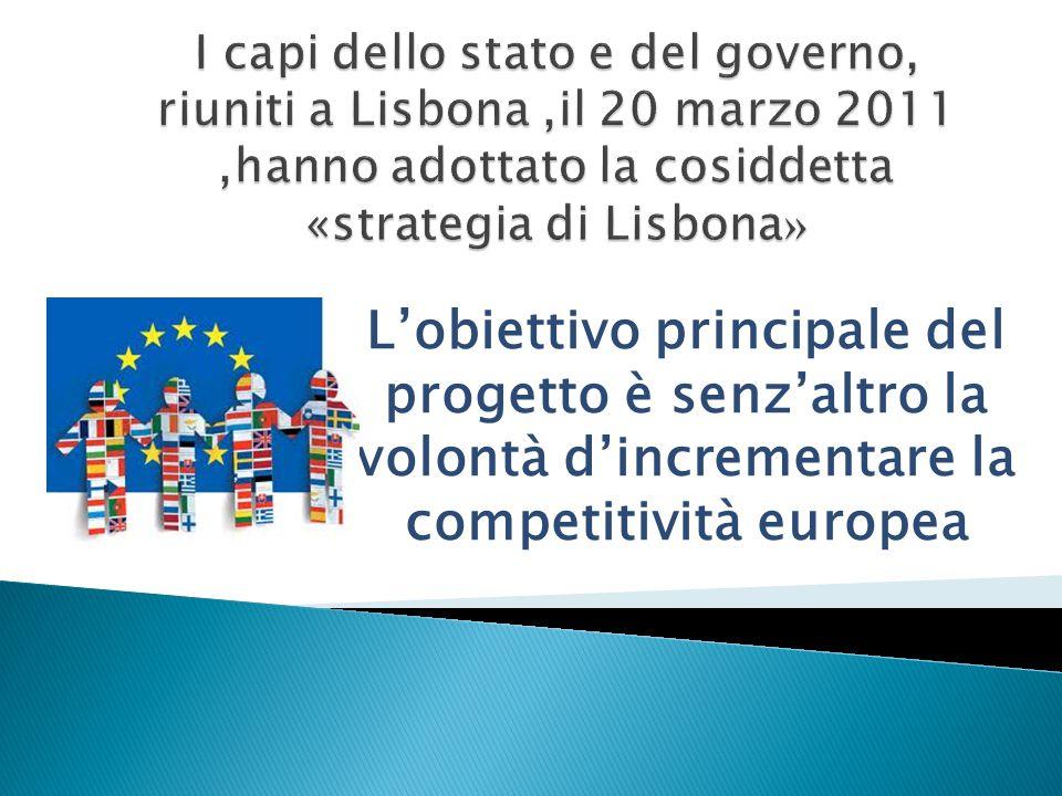 L'obiettivo principale del progetto è senz'altro la volontà d'incrementare la competitività europea