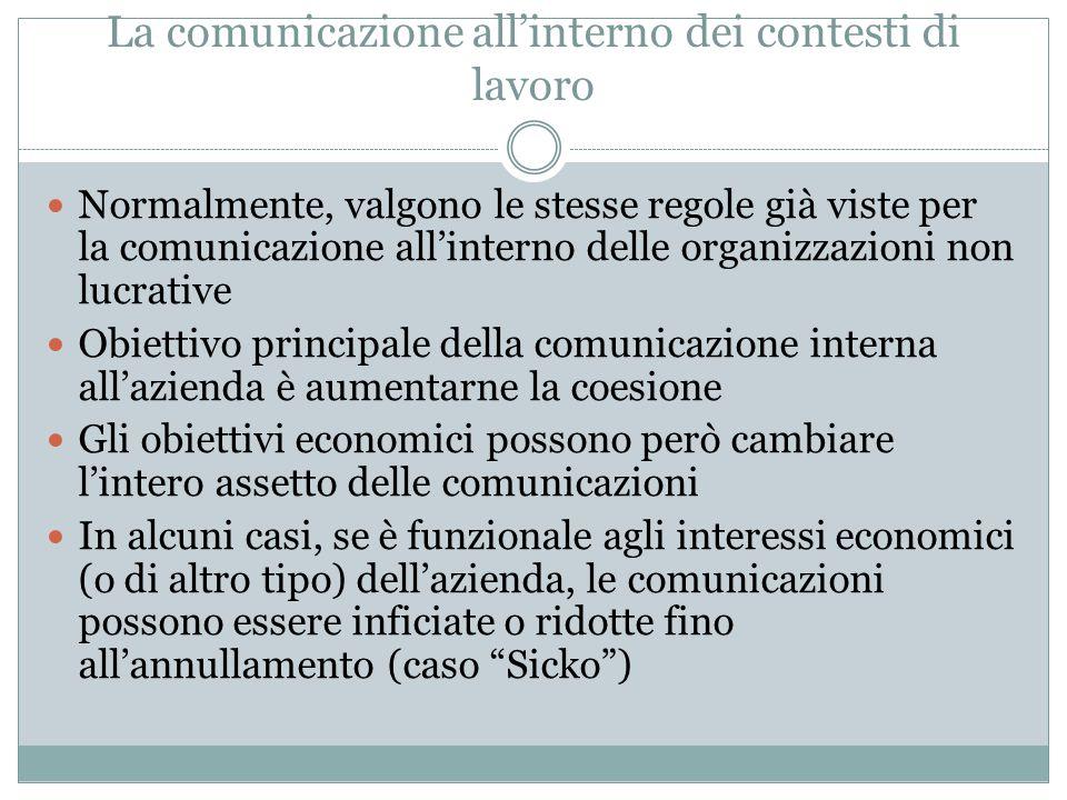 La comunicazione delle aziende verso l'esterno cause economiche: a) Internazionalizzazione b) Globalizzazione dei mercati c) Competizione trasversale d) Nuove tecnologie dell'informazione e) Evoluzione della domanda