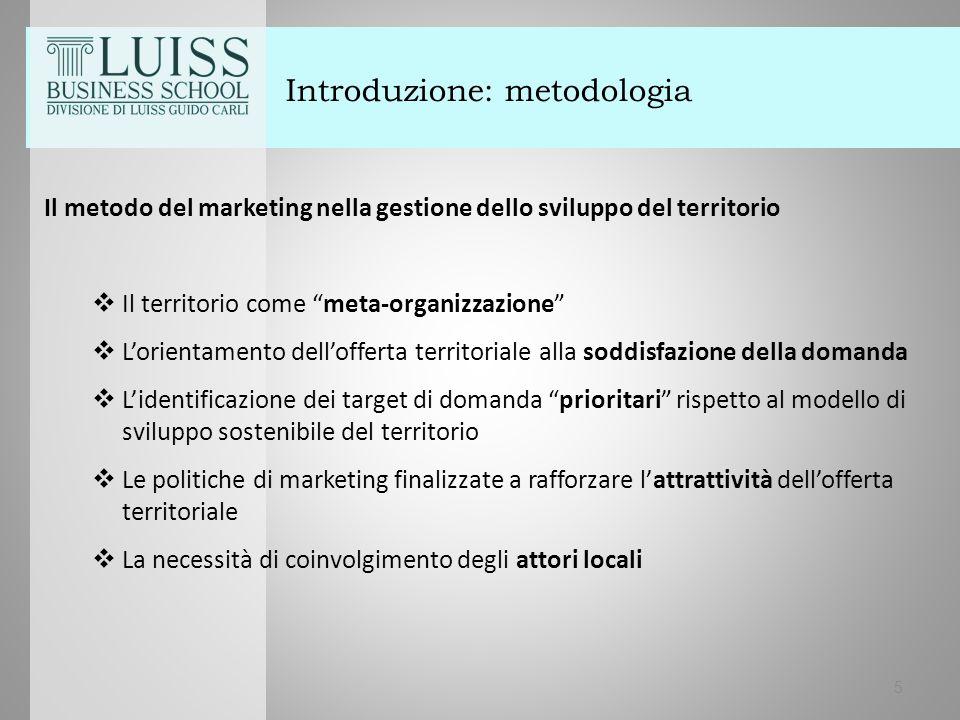 """Introduzione: metodologia Il metodo del marketing nella gestione dello sviluppo del territorio  Il territorio come """"meta-organizzazione""""  L'orientam"""