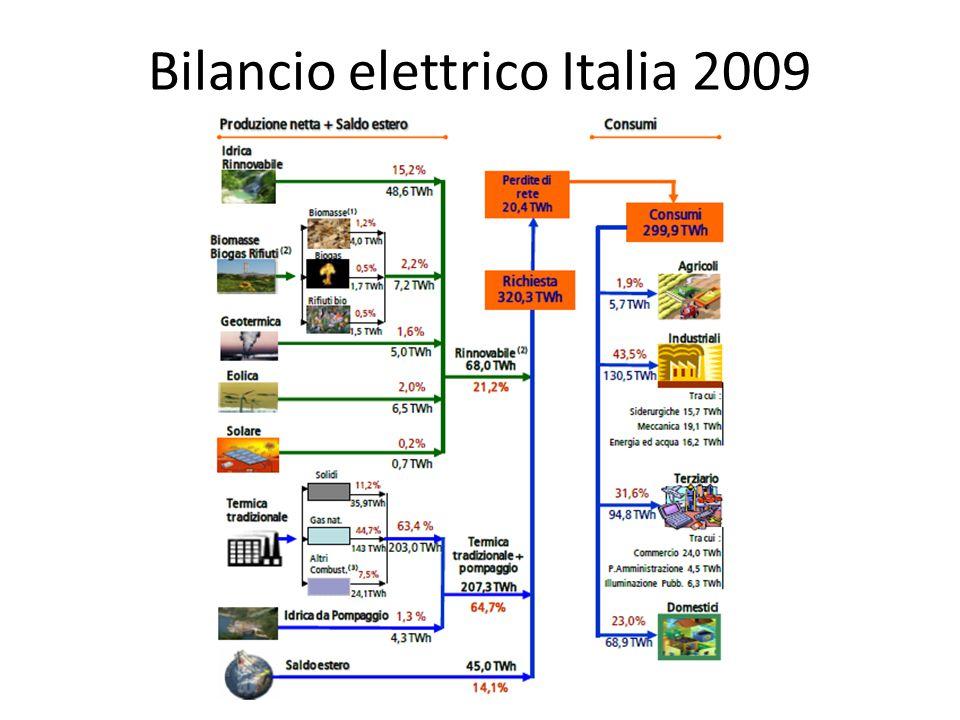 Bilancio elettrico Italia 2009