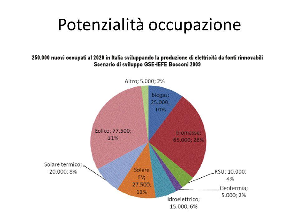 Potenzialità occupazione