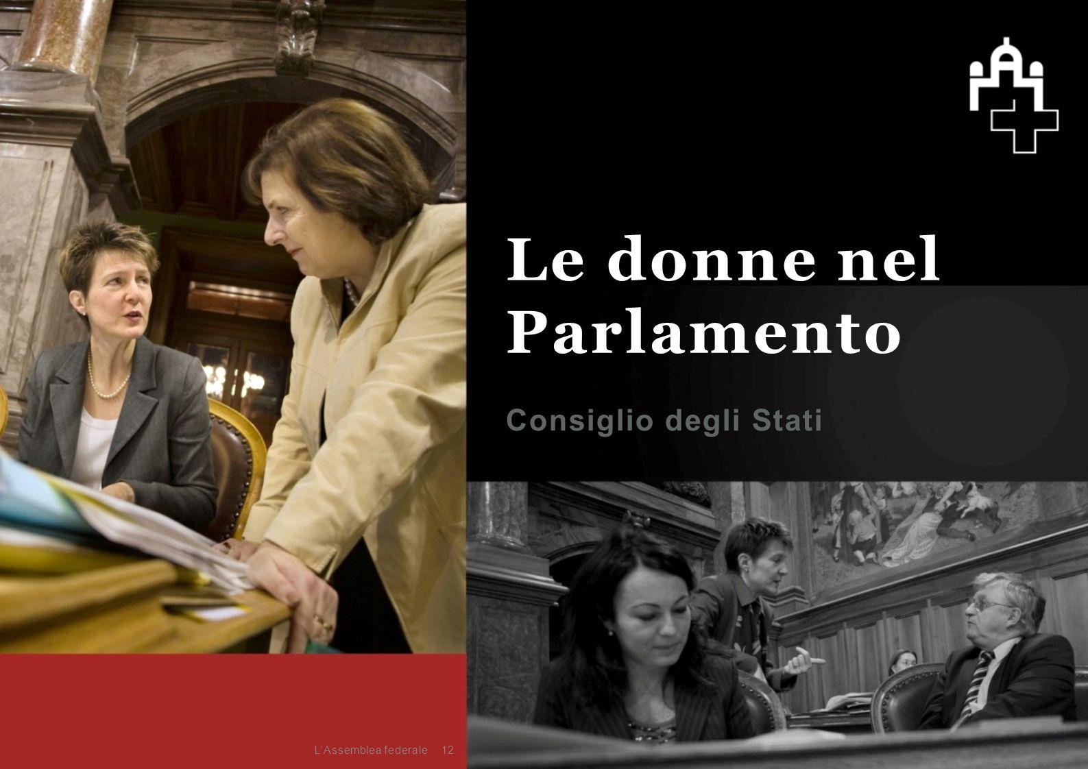 Consiglio degli Stati 12 Le donne nel Parlamento L'Assemblea federale