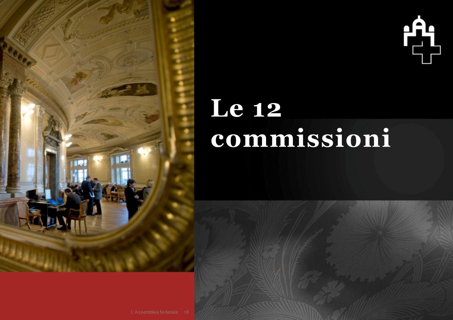 18 Le 12 commissioni L'Assemblea federale