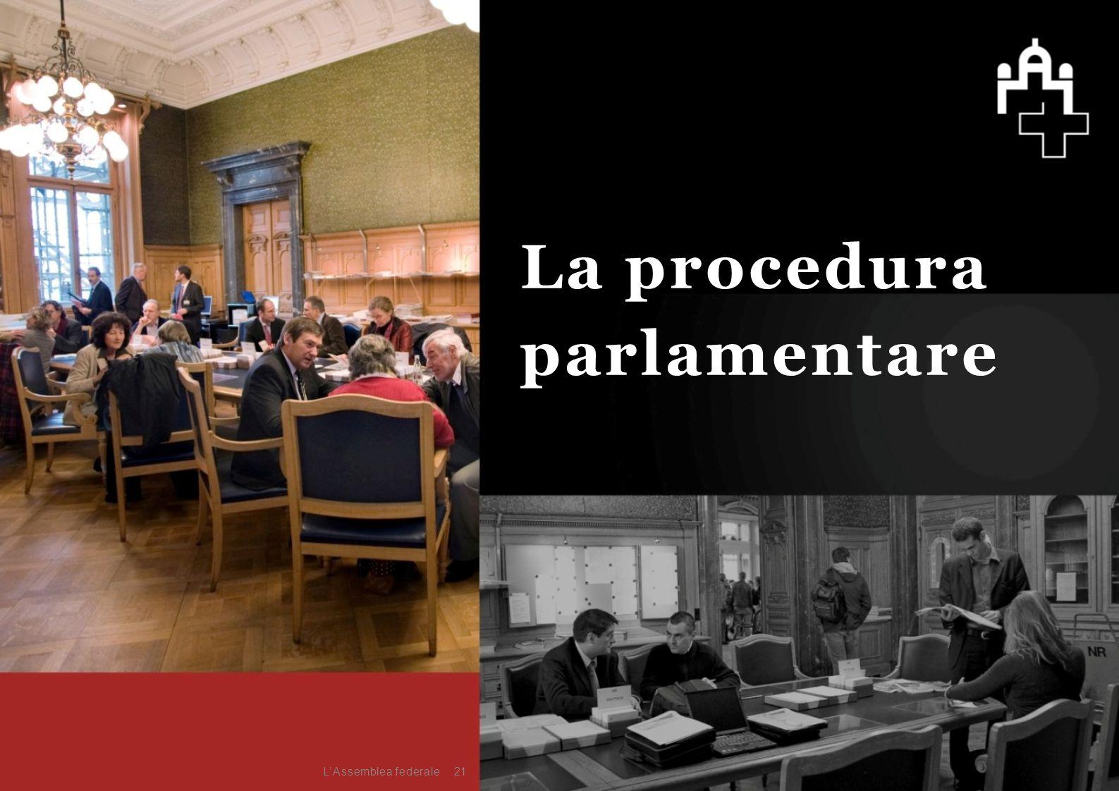 21 La procedura parlamentare L'Assemblea federale