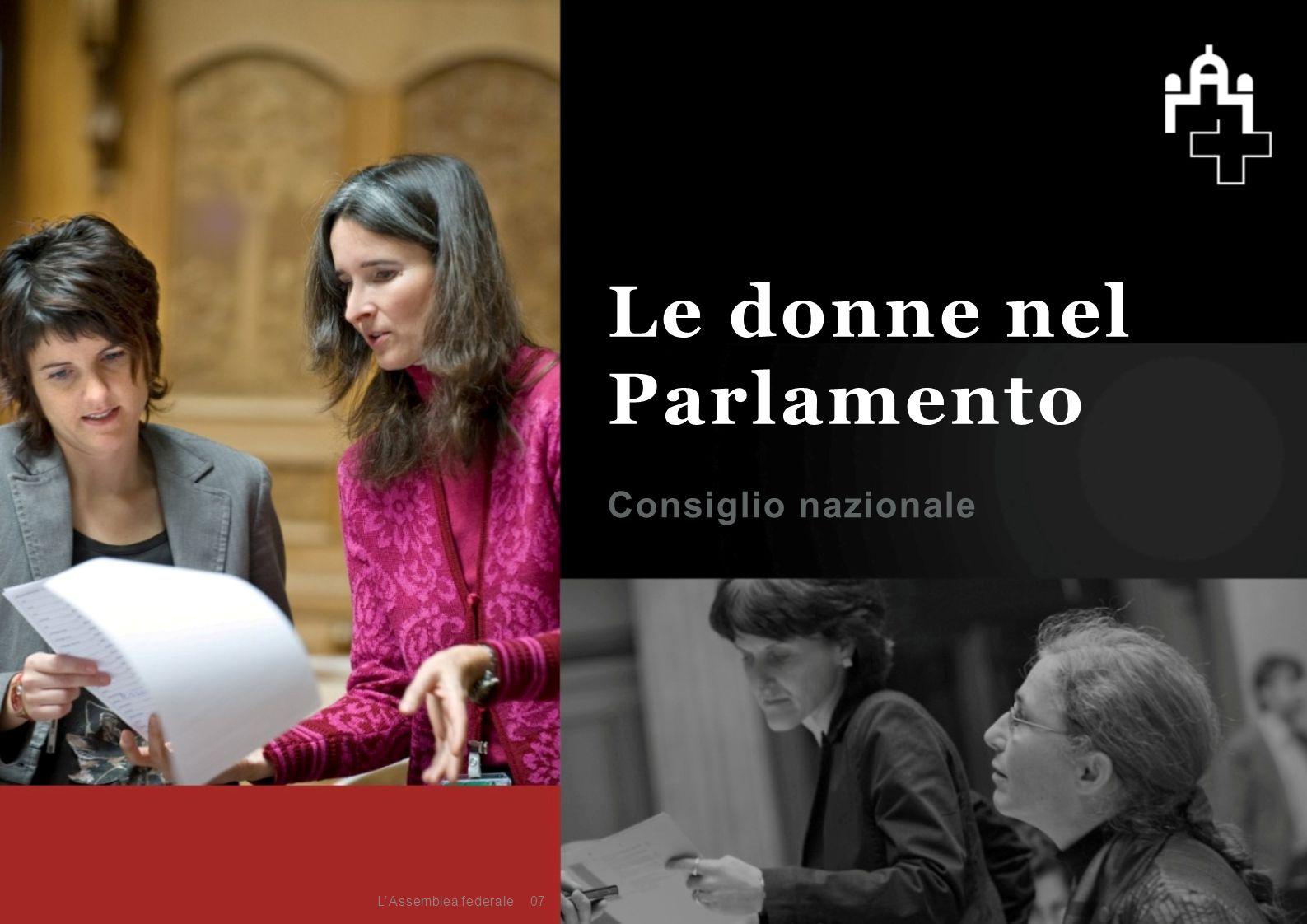 Consiglio nazionale 07 Le donne nel Parlamento L'Assemblea federale