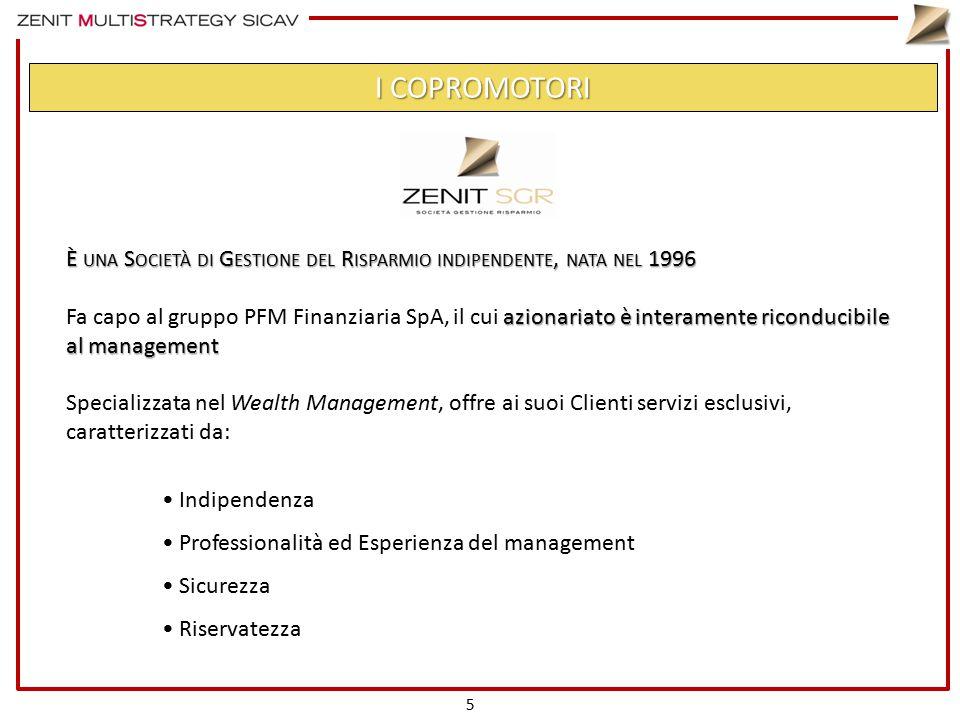È UNA S OCIETÀ DI G ESTIONE DEL R ISPARMIO INDIPENDENTE, NATA NEL 1996 azionariato è interamente riconducibile al management Fa capo al gruppo PFM Fin