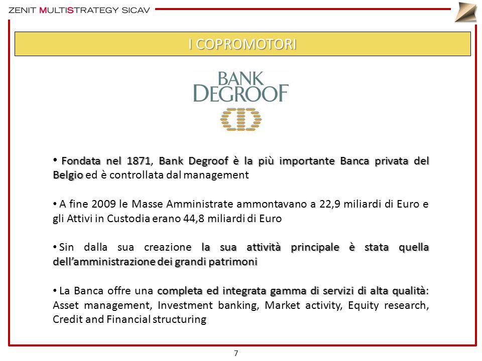 Fondata nel 1871Bank Degroof è la più importante Banca privata del Belgio Fondata nel 1871, Bank Degroof è la più importante Banca privata del Belgio