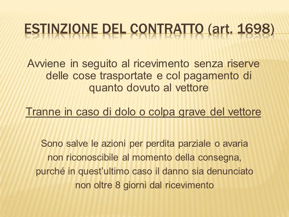 TRASPORTO SU STRADA Detto anche autotrasporto, impone l'iscrizione del vettore nell'Albo nazionale degli autotrasportatori e il rilascio di un'autorizzazione amministrativa all'esercizio.