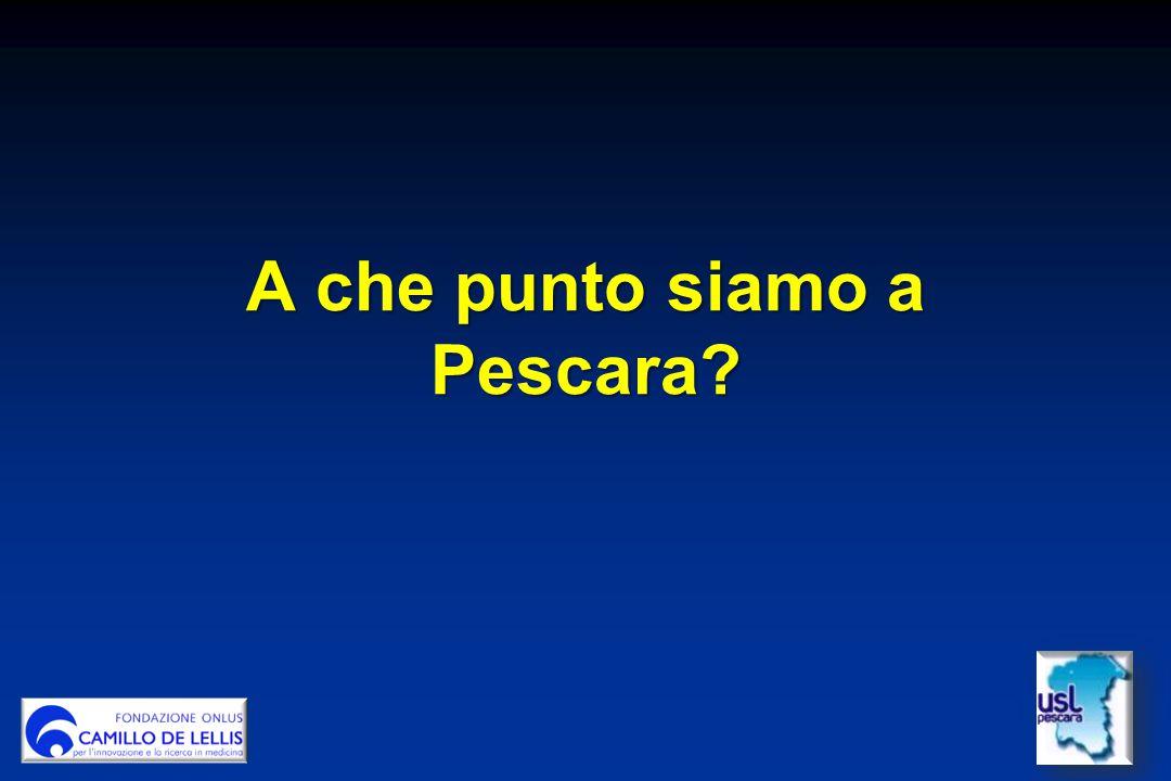 A che punto siamo a Pescara?