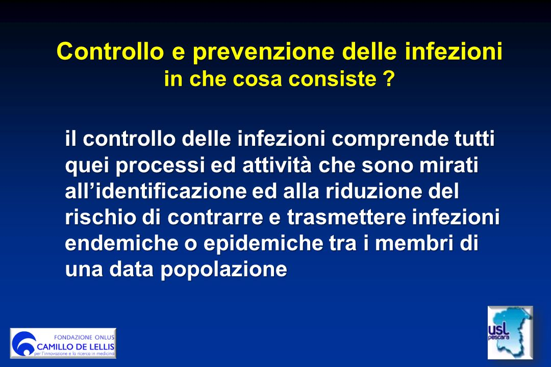 Controllo e prevenzione delle infezioni in che cosa consiste .
