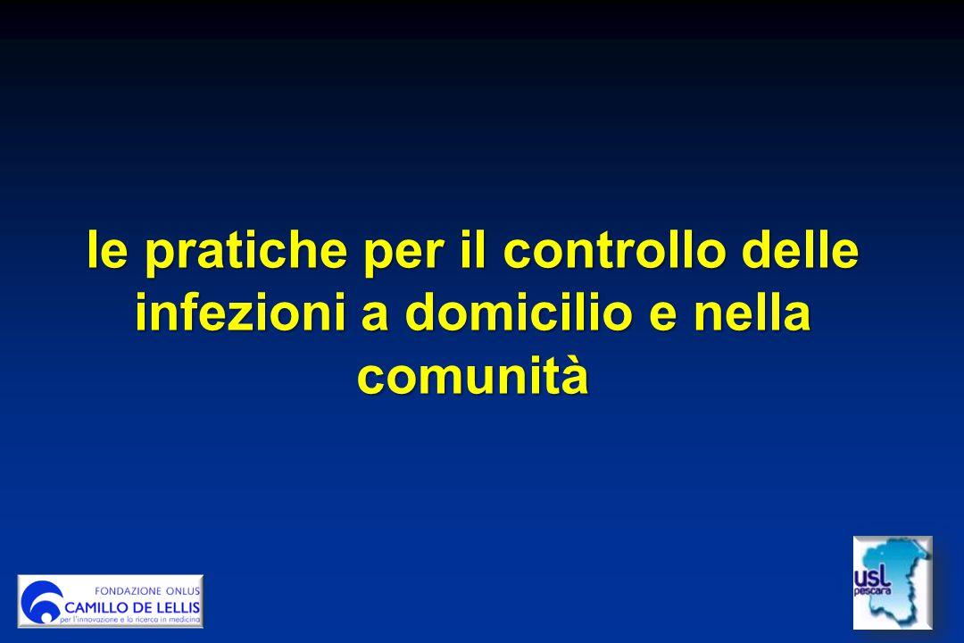 le pratiche per il controllo delle infezioni a domicilio e nella comunità