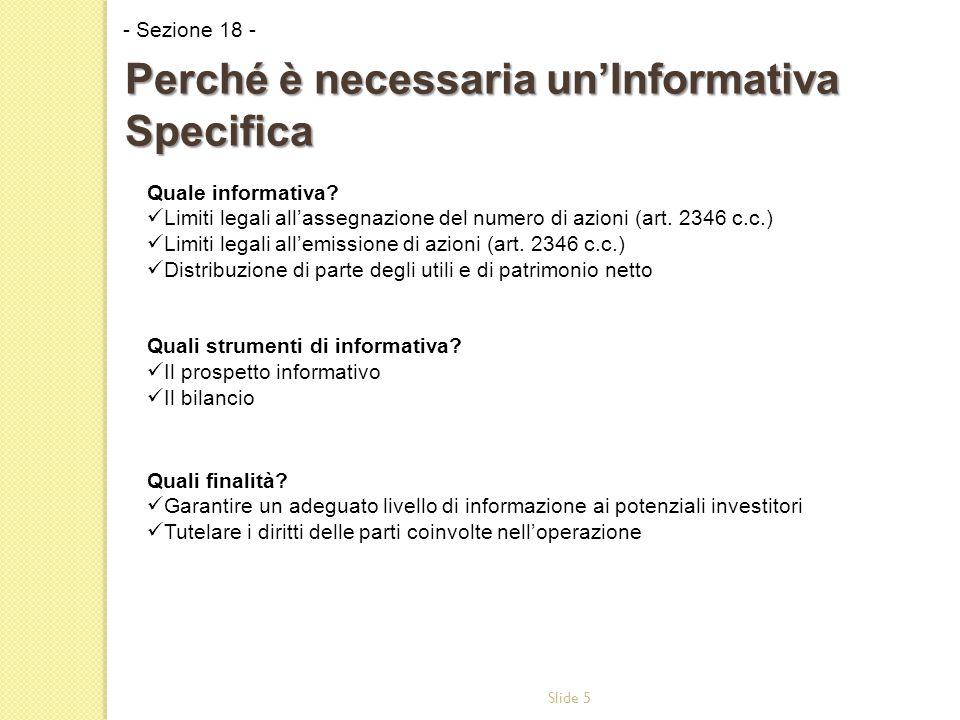 Slide 5 Quale informativa. Limiti legali all'assegnazione del numero di azioni (art.