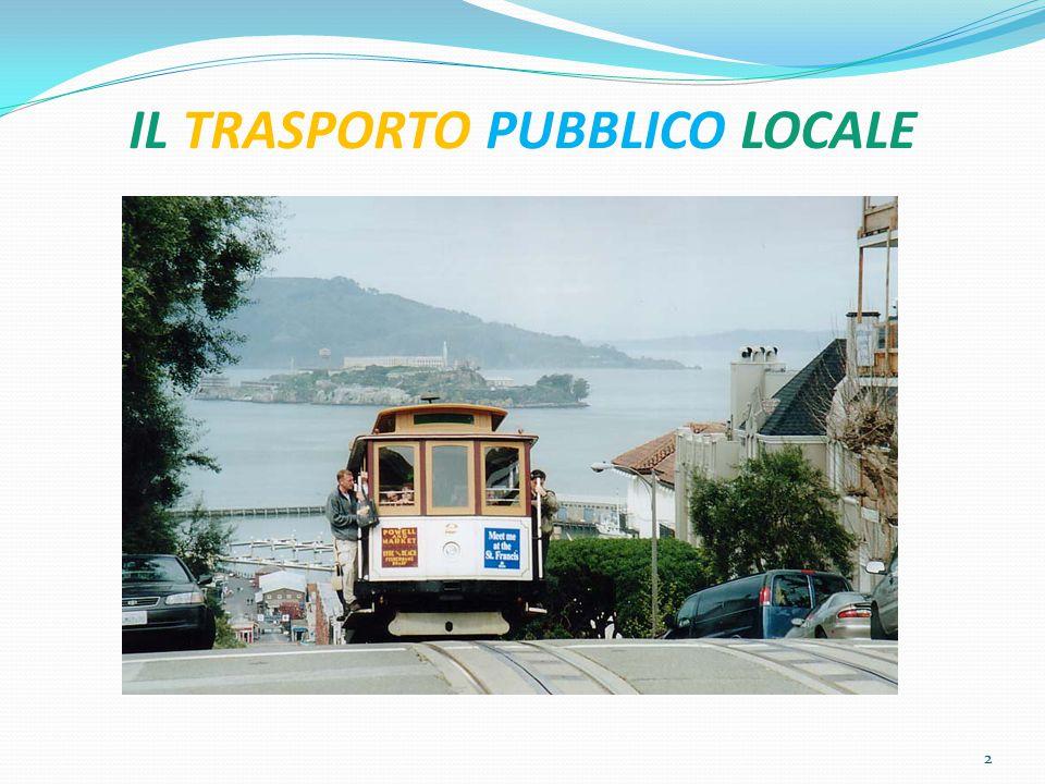 PREMESSE IL SISTEMA DEL Trasporto Pubblico Locale (TPL) RISALE AGLI INIZI DEL SECOLO SCORSO ED È DIVISO IN DUE BRANCHE: 1.