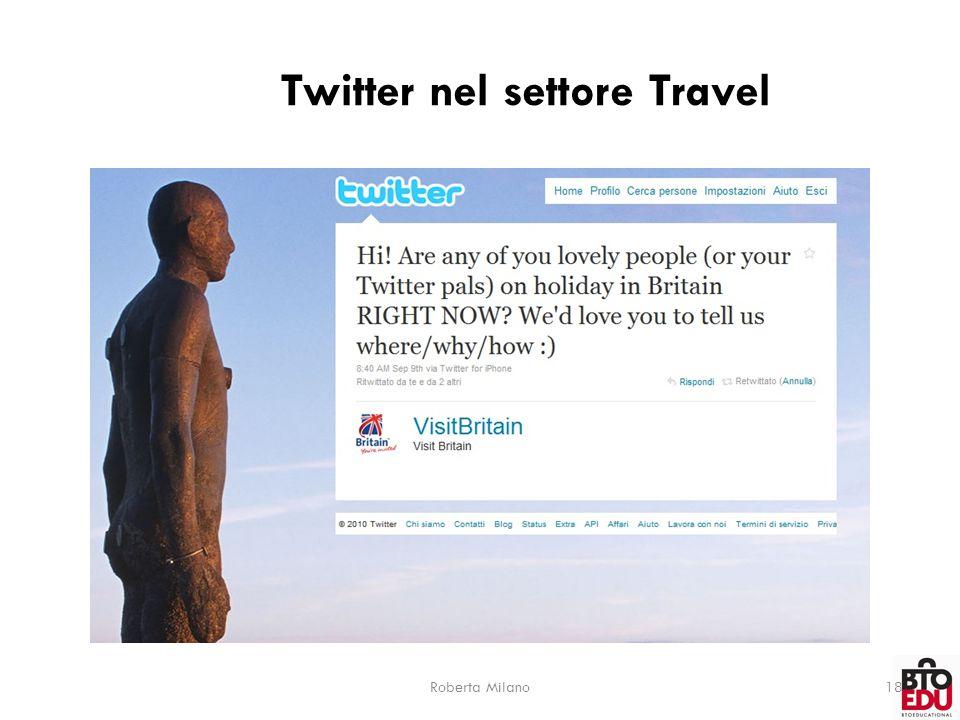 Twitter nel settore Travel Roberta Milano18