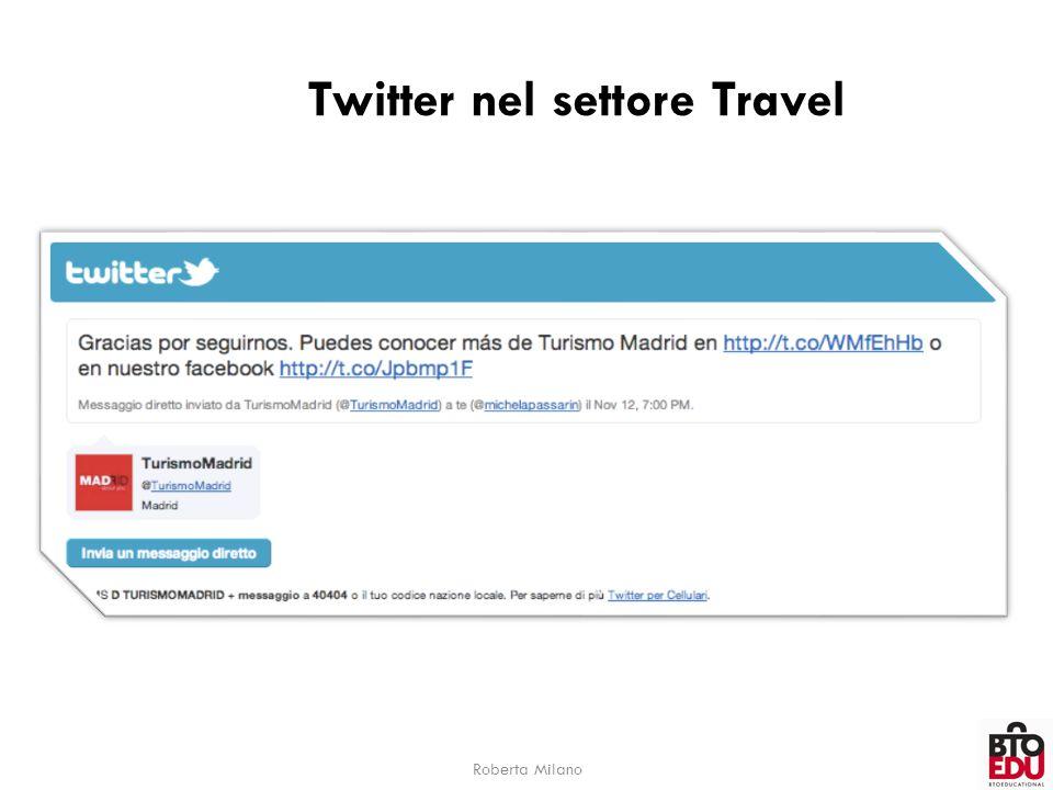 Twitter nel settore Travel Roberta Milano