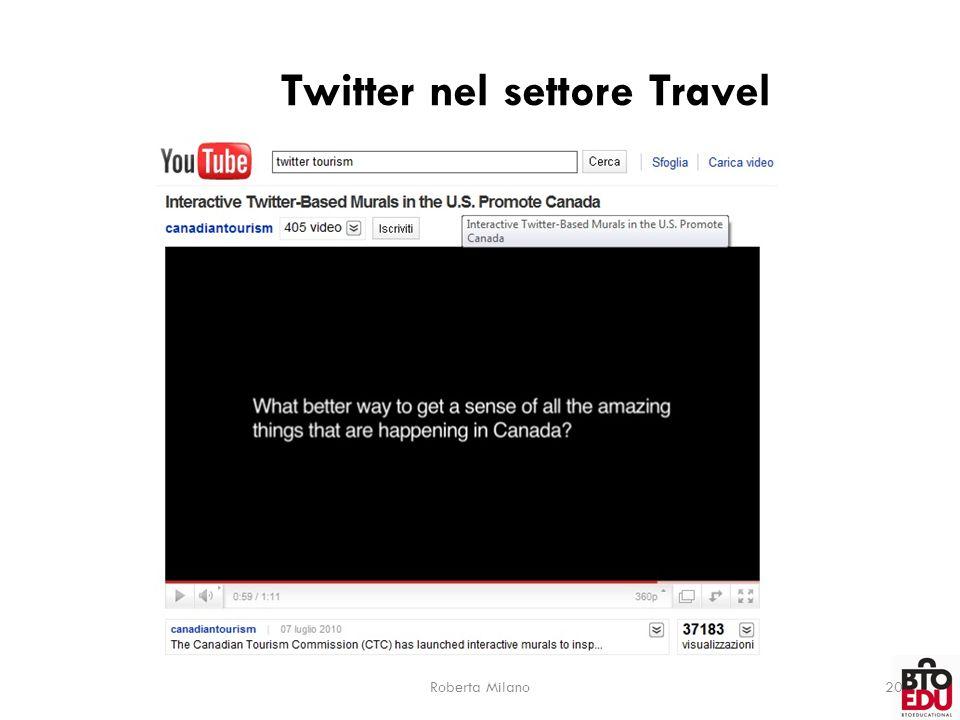 Twitter nel settore Travel Roberta Milano20