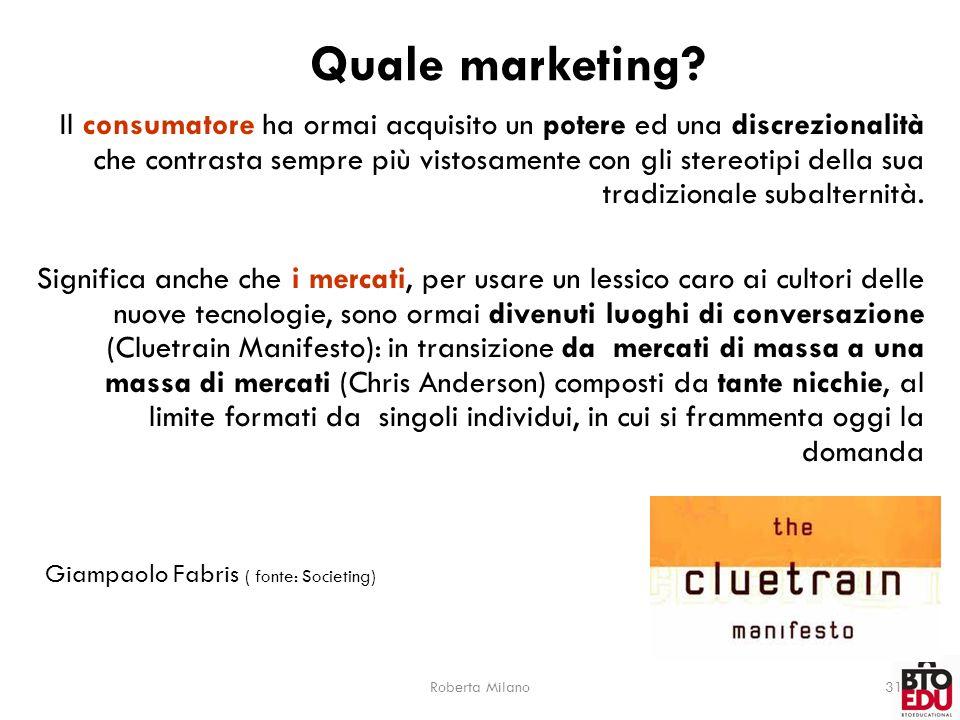 Roberta Milano31 Quale marketing.
