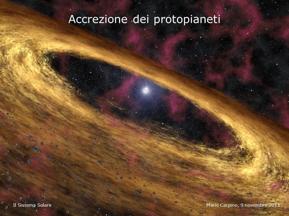 Accrezione dei protopianeti Mario Carpino, 9 novembre 2011Il Sistema Solare