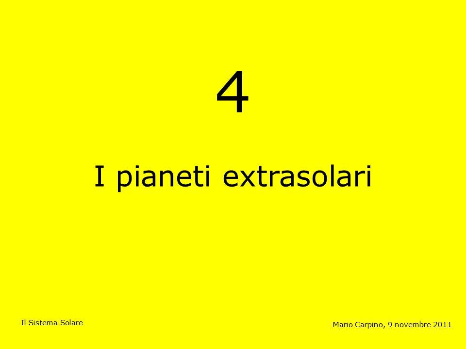 4 I pianeti extrasolari Mario Carpino, 9 novembre 2011 Il Sistema Solare