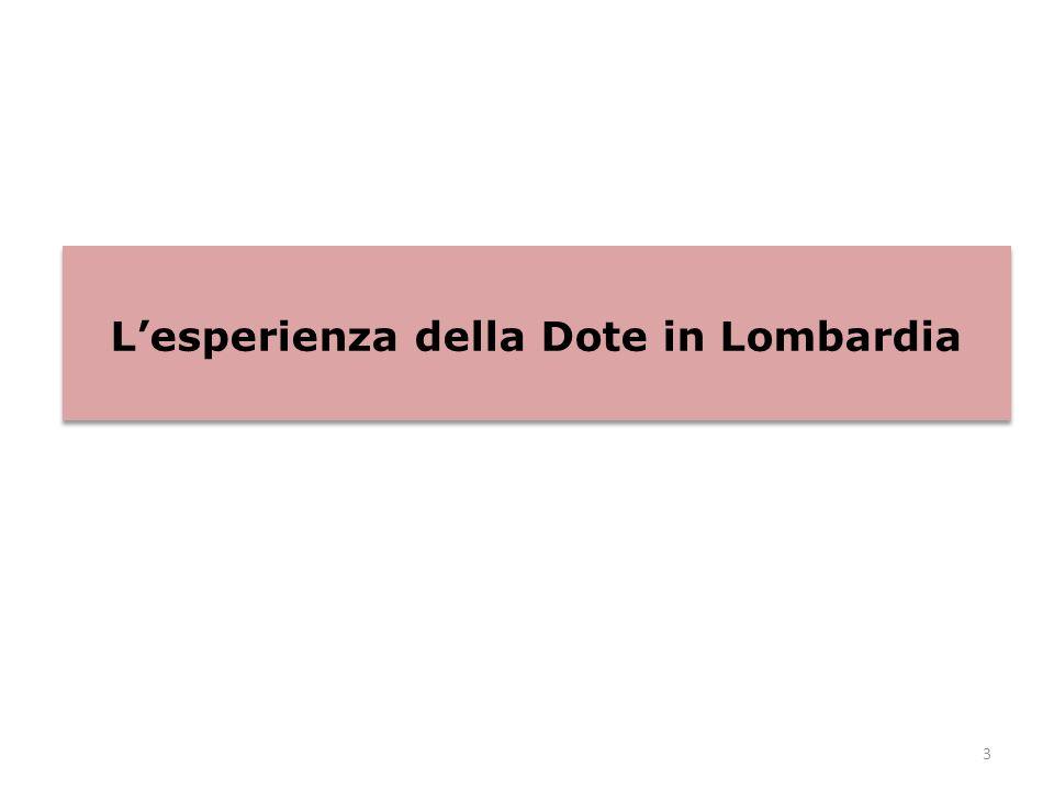 3 L'esperienza della Dote in Lombardia