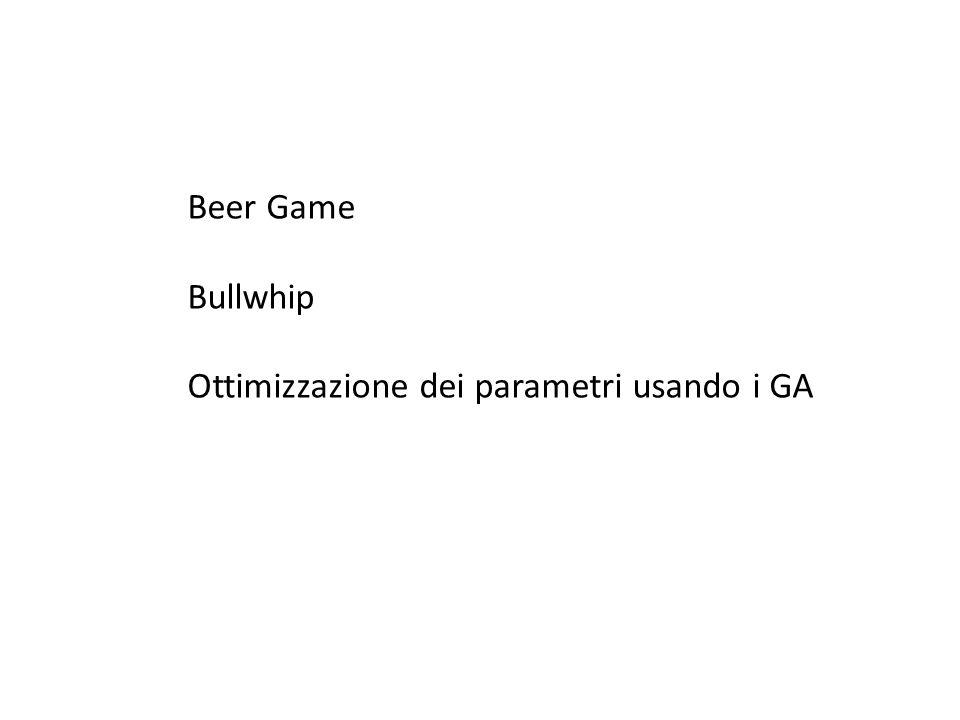 Beer Game Bullwhip Ottimizzazione dei parametri usando i GA