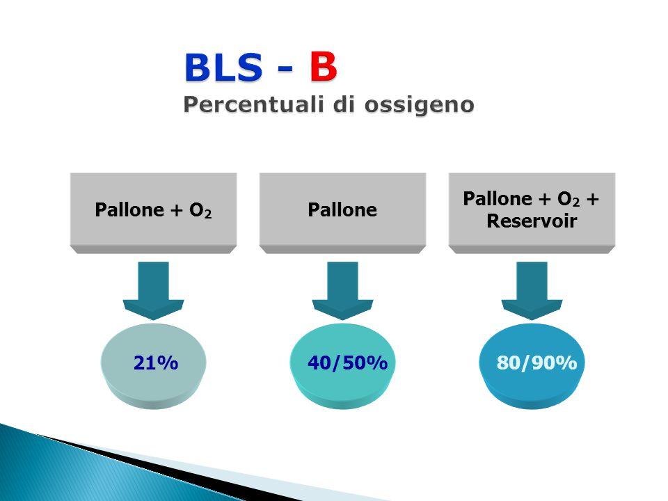Pallone + O 2 + Reservoir Pallone + O 2 Pallone 21% 40/50% 80/90%