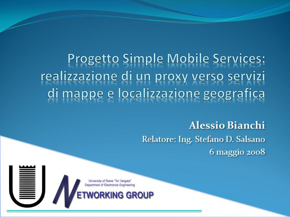 Simple Mobile Services Piattaforma per lo sviluppo e l'utilizzo di servizi mobili usabili e integrati Semplicità di utilizzo, semplicità di sviluppo Approccio prossimo al P2P