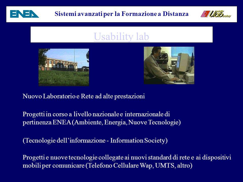 Sistemi avanzati per la Formazione a Distanza Giornate e seminari Virtuali (Internet Fiesta 2000) Lezioni on line demo