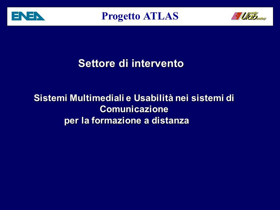 Progetto ATLAS Campagna di diffusione per lo sviluppo della città sostenibile Flavio Fontana Usability Lab ENEA C.R.
